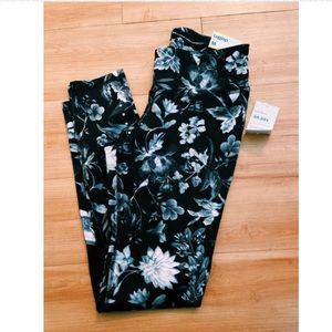 Old Navy Active Mid-Rise Floral black Leggings M